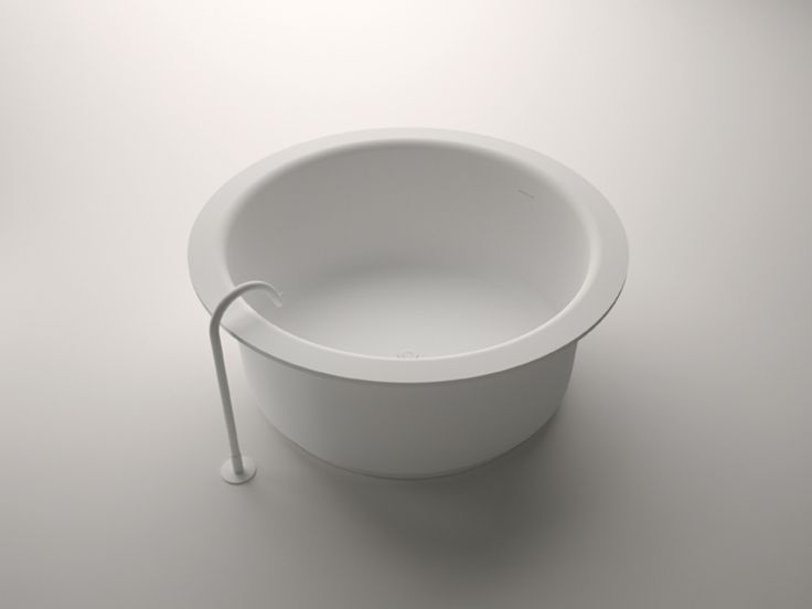 Agape In-Out bath tub with free-standing Fez bath spout. Agape Bathrooms from Liquid Design +44 (0)1604 721993