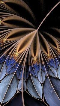 Rozłożyste pióro w abstrakcji