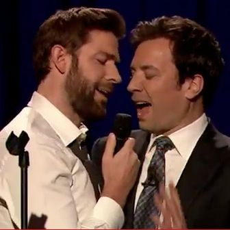 Watch Jimmy Fallon Have a Lip Sync-Off with John Krasinski...I'll just save that for later:)