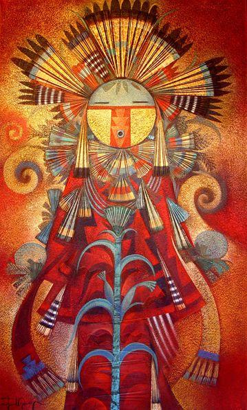 """""""Corn Prayer""""  Mixed Media on Canvas Painting by Tony Abeyta"""