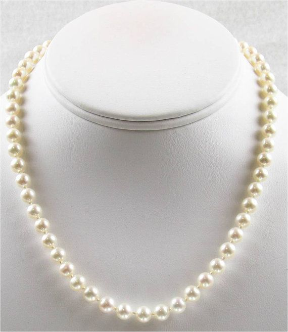 16 inch AAA 6.5 to 7mm Cultured Freshwater Pearl by PearlsPerfect, $150.00