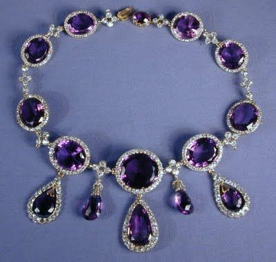 Close Up Of The Necklace From The Kent Amethyst Parure
