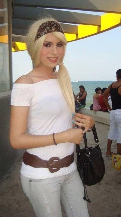 Crossdresser At Beach