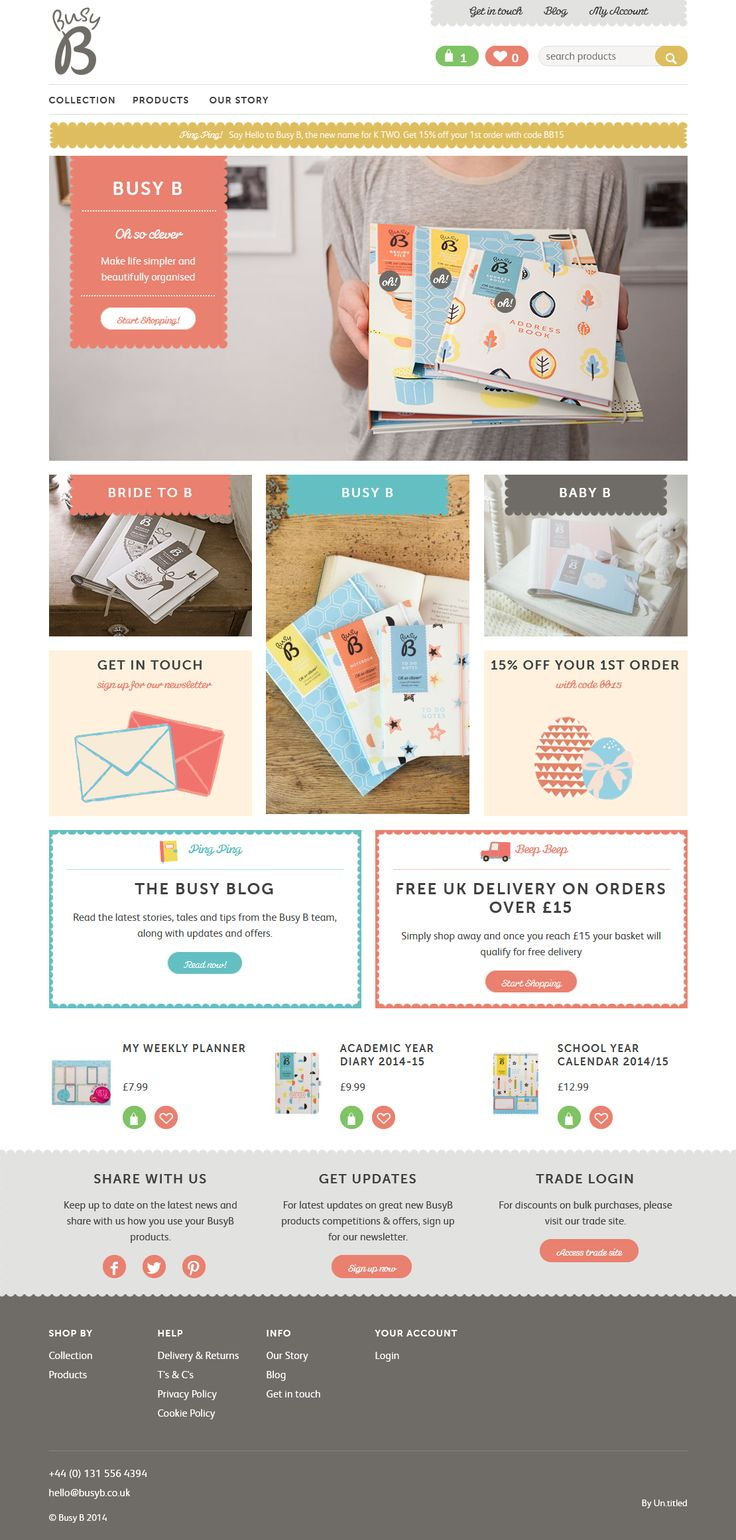 Planners and stationery from Busy B http://busyb.co.uk/store/