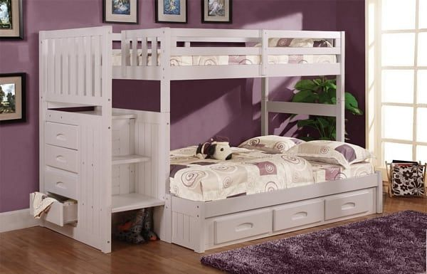 The 7 Best Bunk Beds With Stairs You Can Get On Amazon Modern Home White Bunk Beds Bunk Bed Steps Bunk Beds With Stairs
