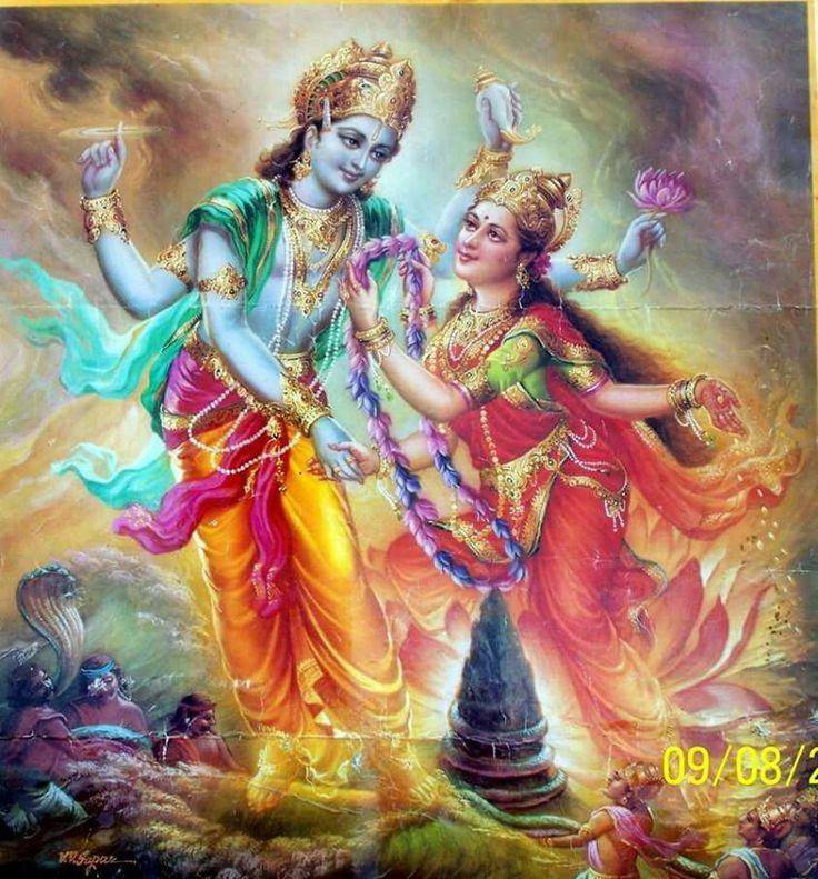 Image result for marriage of goddess lakshmi with lord vishnu