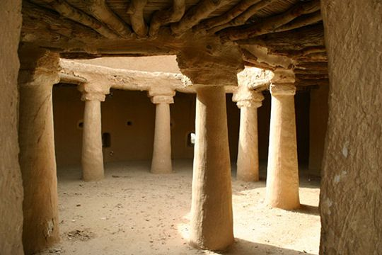 Le site d'At-Turaïf à Ad-Dir'iyah enArabieSaoudite situé au centre de la péninsule arabique et fondé au 15e, et  fut la 1ère capitale de la dynastie saoudienne.