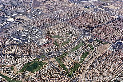 Aerial view of Las Vegas, Nevada
