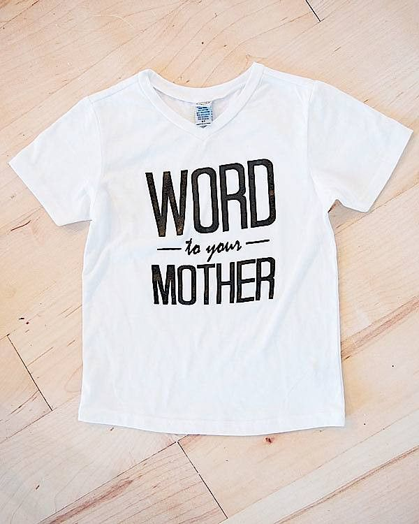 Word to your Mother Kids Graphic T-Shirt