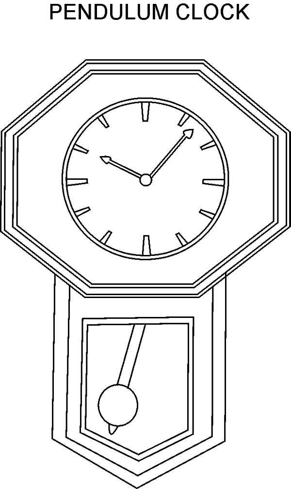 Pendulum Clock Coloring Pages Best Place To Color Clock Pendulum Clock Coloring Pages