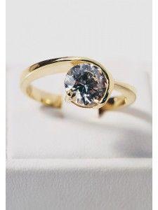 Δαχτυλίδι Κ14 με Ζιργκόν