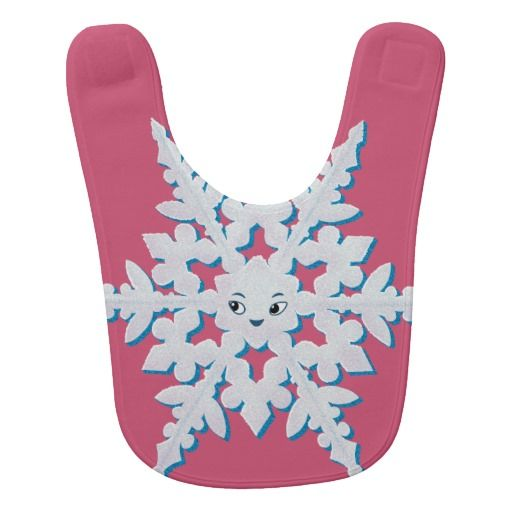 Cute Snowflake Bibs ~ Read more about The Lonely Snowflake http://www.frogburps.com/snowflake_sq #childrensbooks   #frogburps #thelonelysnowflake #bib #childrensillustration