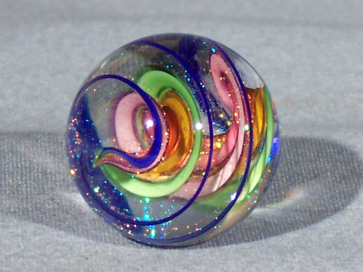 Marbles Hand Made Art Glass James Alloway Dichroic Marble 1373 95 Inch | eBay