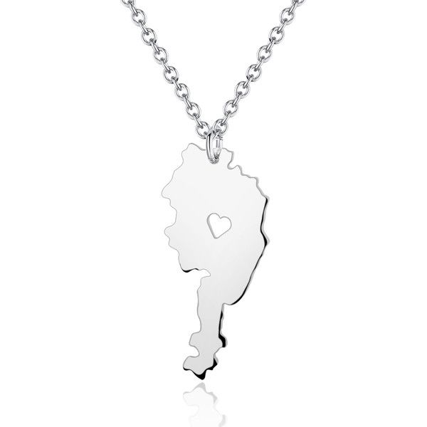 Personalised Necklaces – Handmade I hear Austria Country Map Necklaces – a unique product by aimeecreative on DaWanda