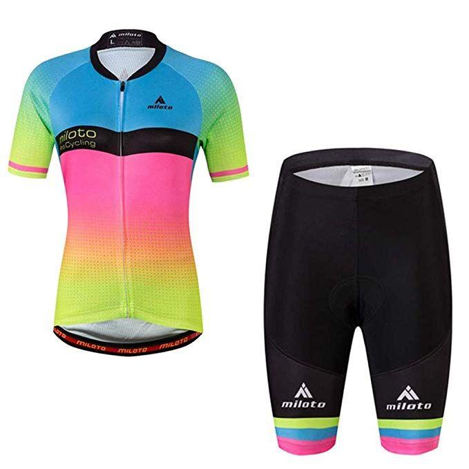 Miloto Women S Cycling Jersey Reflective Shirt Padded Shorts Set