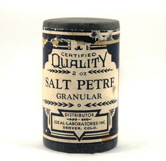 Vintage Drugstore Salt Petre Canister - 1940's