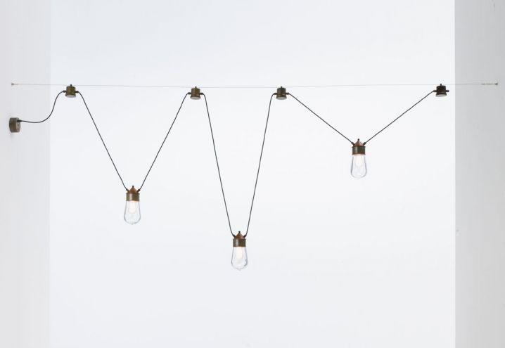 La collezione di lampade Drop in ottone, rame e vetro. Anche per indoor