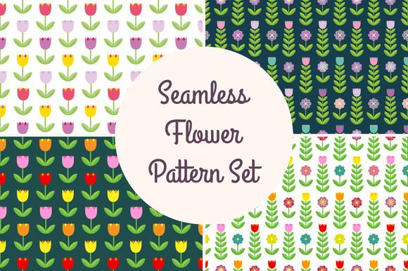 Flower pattern collection by joulenc on @creativemarket