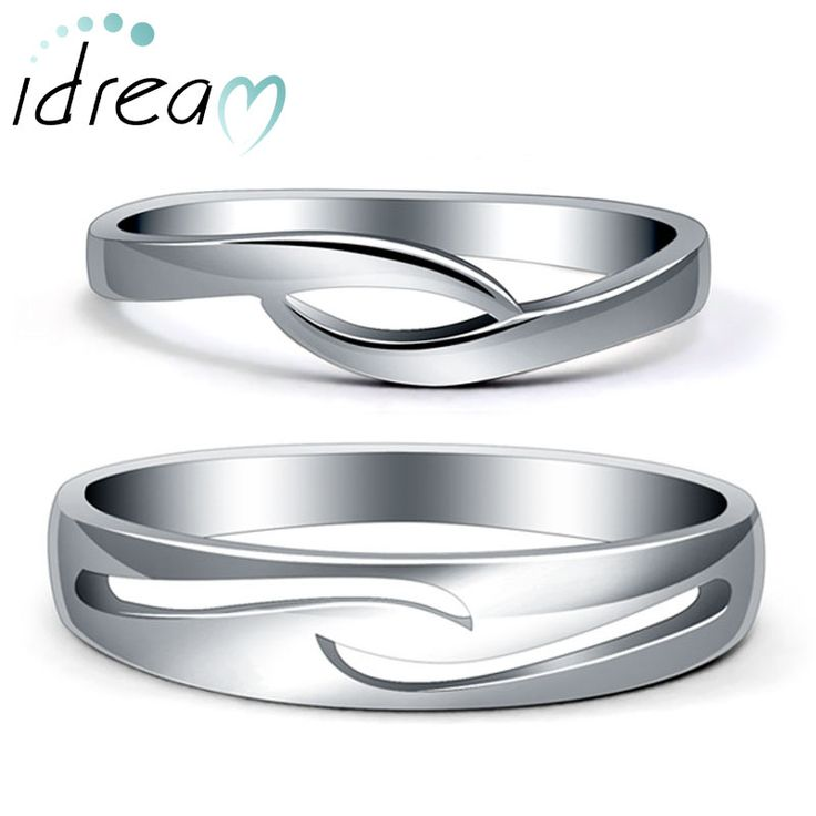 simple wave couple promise rings set for women and men unique infinity wedding ring band - Infinity Wedding Ring Set