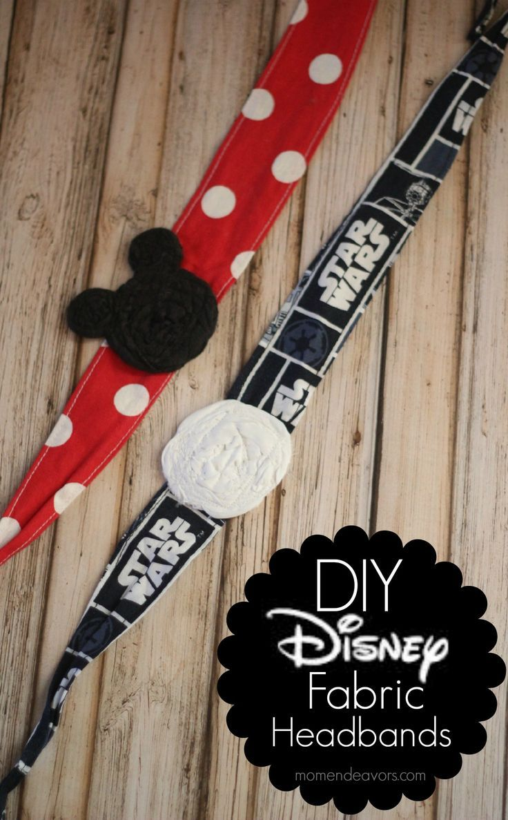 DIY Disney fabric tie headbands via momendeavors.com disney crafts for adults #disney