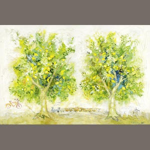 Yannis Kottis (Greek, born 1949) Lemon trees 100 x 150 cm. Sold for £24,000 inc. premium