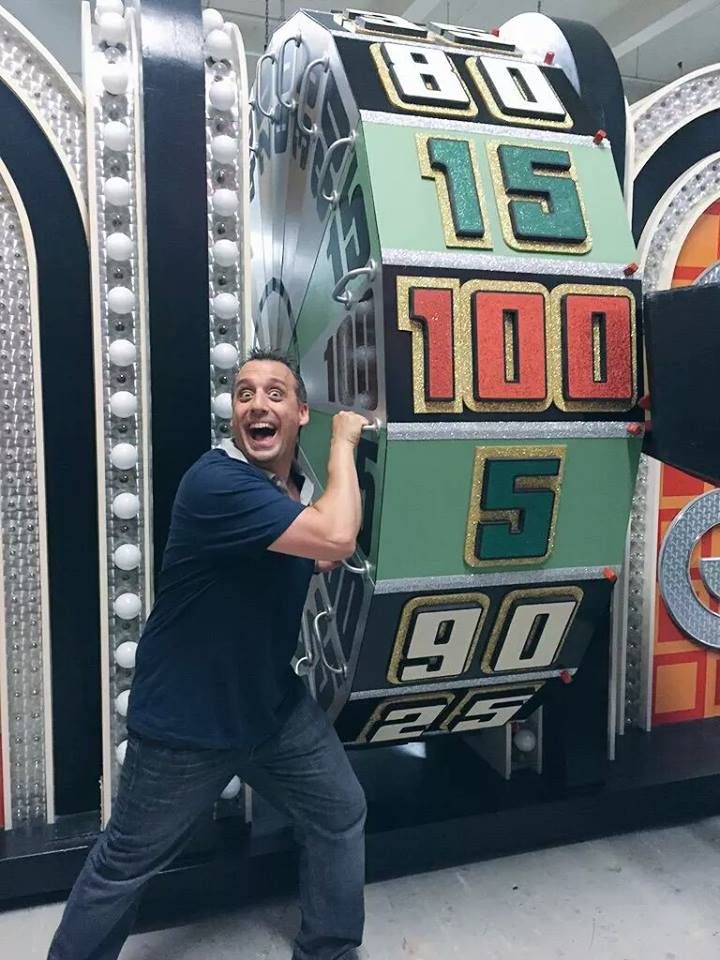 Joe with the Big Wheel on the Price is Right!!