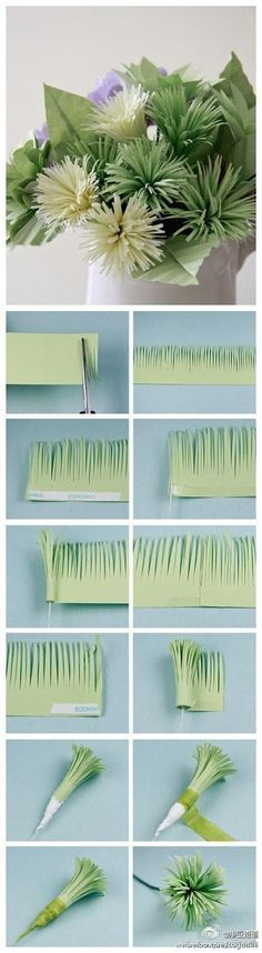 Flores de papel para hacer tu misma