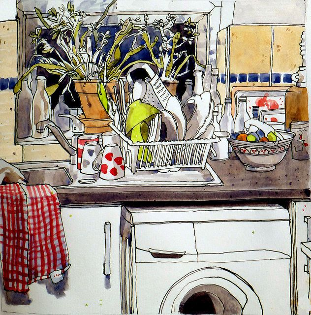 Nightfall in the Kitchen, Leyland | von larosecarmine