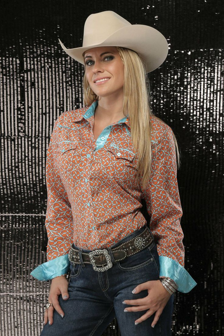 Orange & Aqua Button Down Shirt - Cruel Girl