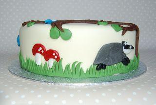 Badger mushroom snake cake