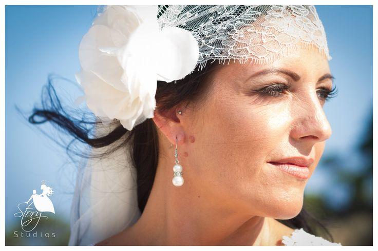 Beautiful bohemian lace headband and vintage pearl earings!