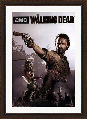 The Walking Dead Season 4 Rick Michonne Framed Art Print Wall