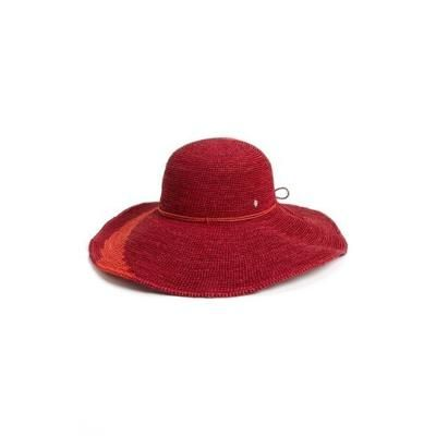 €244, Chapeau de paille rouge Helen Kaminski. De Nordstrom. Cliquez ici pour plus d'informations: https://lookastic.com/women/shop_items/106139/redirect