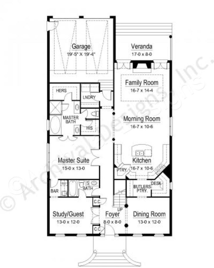 Drawing Of Small Lot House Plan Idea
