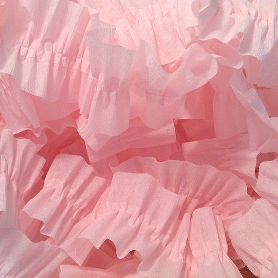 Baby Pink Ruffled Crepe Paper Streamers  by CharmiosCraftParty, $5.00