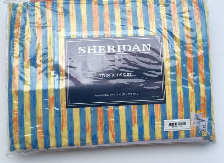 Sheridan Australia Twin Bedskirt Forest Walk Multi Color Tropical Stripe NOS  #SheridanAustralia #Tropical