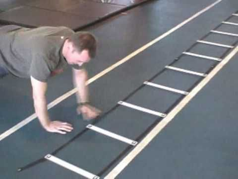 ▶ Upper body strength, stability and plyometrics in speed ladder - YouTube