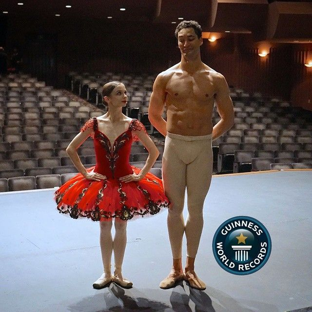 I think it is very appropriate to repost this picture of @BalletRusse and me during the Festival Ballet Gala to announce that I am officially the @GuinnessWorldRecords holder for Tallest Ballet Dancer in the world and that my home is in #Chicago at The Joffrey Ballet  This is a true celebration for me as my height presented many obstacles in my journey in the ballet #world. I was often told that I would never make it and I should quit and change my career path only because there had never…
