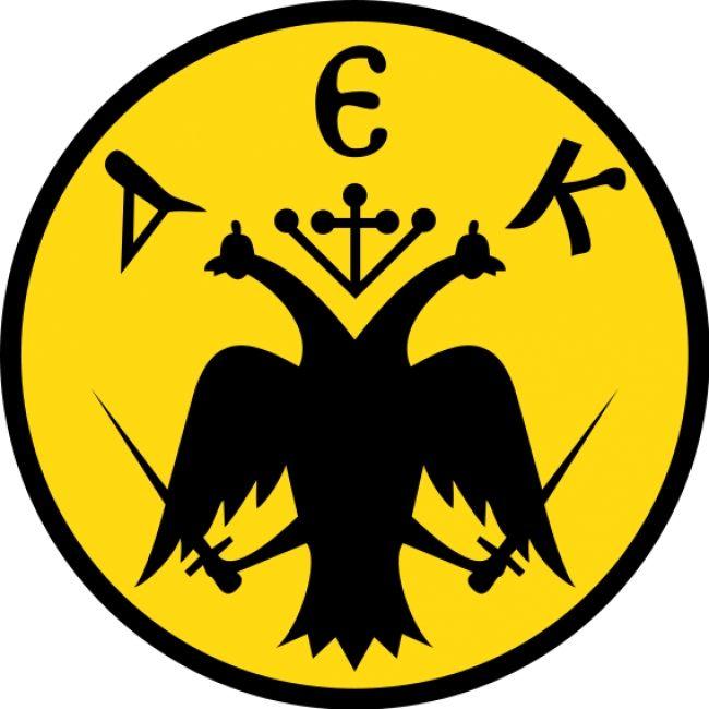 AEK logo in volley.