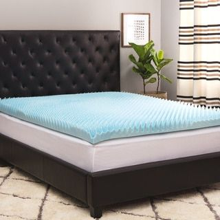 Comforpedic Loft from Beautyrest 4-inch Sculpted Gel Memory Foam Mattress Topper with Polysilk Cover - 15459547 - Overstock.com Shopping - The Best Prices on Simmons Beautyrest Memory Foam Mattress Toppers
