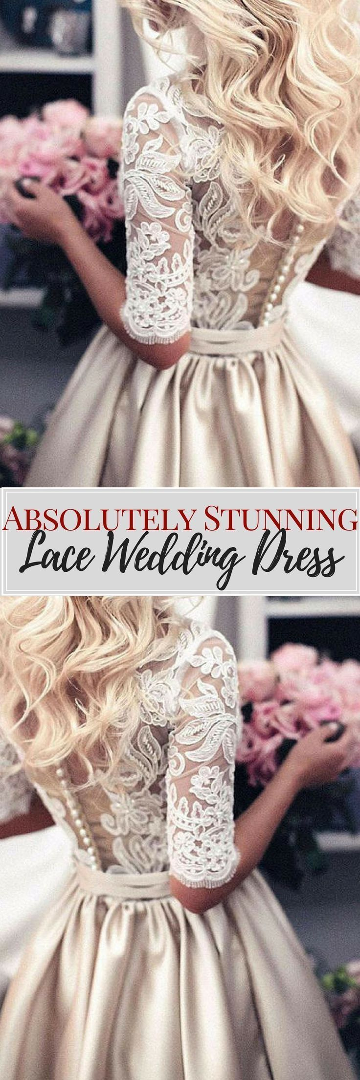 I am absolutely IN LOVE with this dress. The fit is flawless and the  quality is far superior to all other dresses. If you are on the fence  about purchasing here, do it. You will not regret it!!!    Wedding dress, wedding dress lace, wedding dresses, princess wedding dresses, aline wedding dresses, sleeved wedding dresses #womensfashion #ad #weddingideas #princessweddingdresses