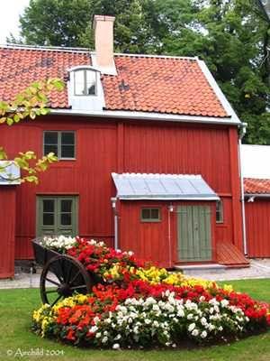 Traditional House in Gröna Lund, Stockholm, Sweden