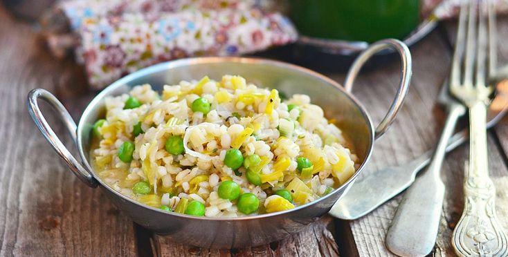 Zuppa di riso orzo e piselli - http://www.piccolericette.net/piccolericette/zuppa-di-riso-orzo-e-piselli/