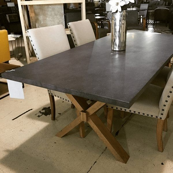 Zinc Table Wooden X Base Zinc Dining Tables Contemporary Dining Room Tables Zinc Table