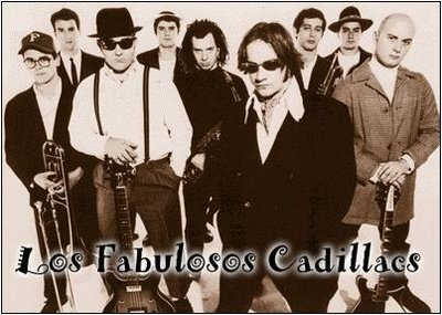 Los Fabulosos Cadillacs is an Argentine ska band from Buenos Aires. Formed in 1985, they released their first album, Bares y Fondas (Bars and Boardinghouses) in 1986. Since then they have released fourteen more albums. They are one of the most influential and most-referenced rock bands of the Latin rock world. The band's sound is a mix of rock, ska, jazz, folk, reggae, funk and big band. It is also noted for its irreverent and humorous lyrics which often contain political undertones.