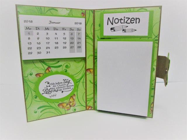 Taschenkalender - Taschenkalender 2018, Kalender 2018 + Notizblock  - ein Designerstück von Deko-Ideenreich bei DaWanda