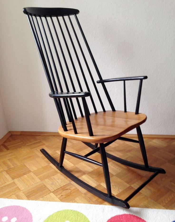schaukelstuhl vintage 50 60er ilmari tapiovaara lena larsson roland rainer furniture. Black Bedroom Furniture Sets. Home Design Ideas