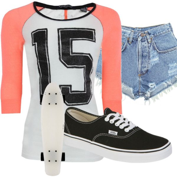 """""""skater girl summer outfit"""" by ashley-marie15 on Polyvore"""