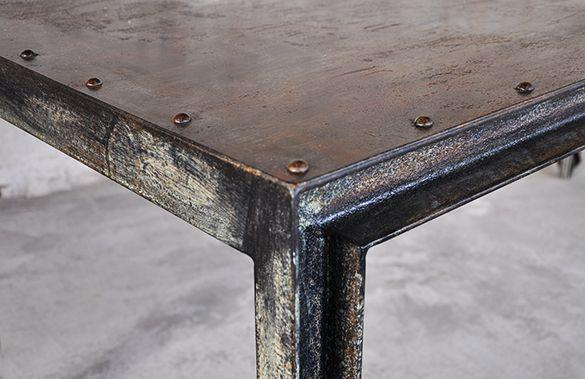 tavoli in ferro battuto idee originali : un bellissimo tavolo interamente in ferro, realizzato su misura. la ...
