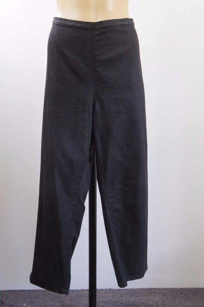 Plus Size 2XL 18 Ladies Black 7/8 Pants Casual Stretch Resort Weekend Design  | eBay